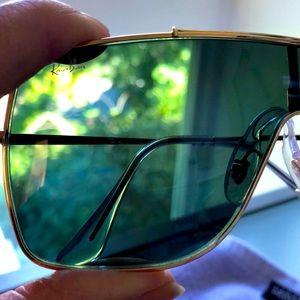 Ray-Ban Wings II green  gold frames sunglasses